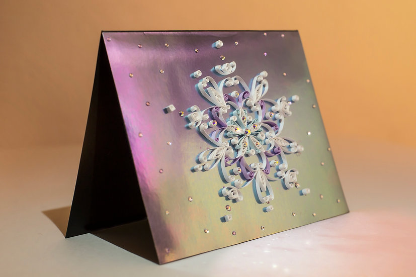 Chrysalis  - 5D Swarovski® Quilled Mirrored Card