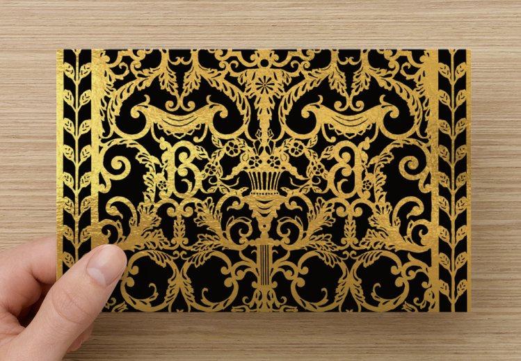 Chandelier - Folded Invitation Card