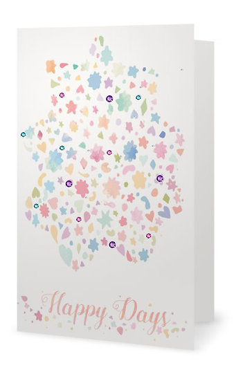 Happy Days - Folded Invitation Card