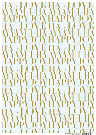Gold n White Wrapping Paper (3 PACK)