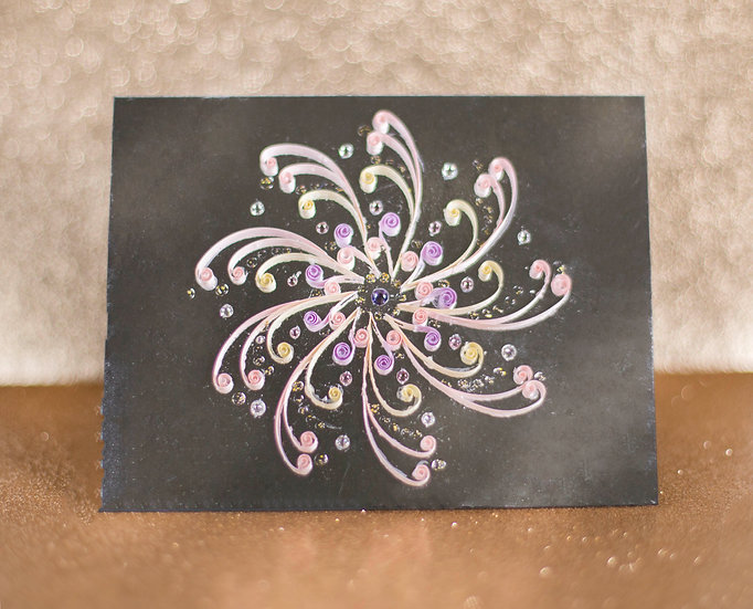 Sundial - 5D Swarovski® Quilled Mirrored Card