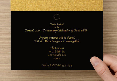 Chandelier invitation card the chandelier invitation card is a gold and black visual feast ive always been so inspired by the captivating beauty of the gate preceeding the shrine of reheart Gallery