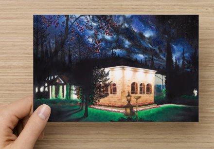 Beauty of the Night - Flat Invitation Card