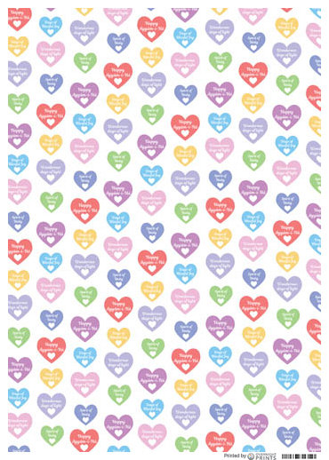 Ayyám-i-Hearts Wrapping Paper (3 PACK)