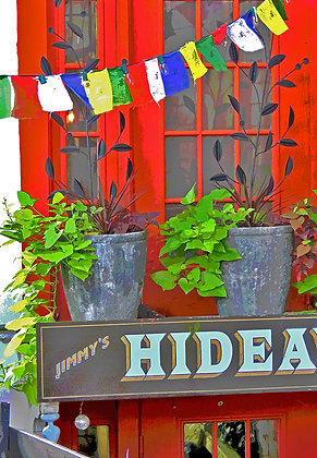 Entrance to Jimmy's HideAway restaurant