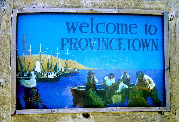 Welcome to Provincetown sign on Route 6