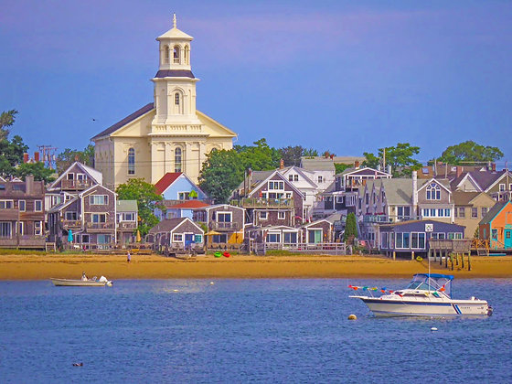 View of Provincetown from Cape Cod Bay