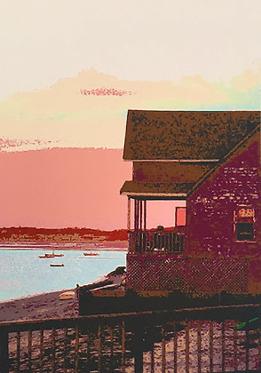 Pink sunset over Provincetown