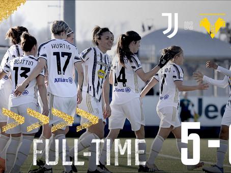 Juventus Women, sono dodici su dodici: 5-0 all'Hellas Verona