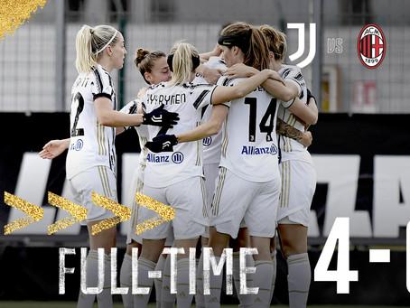 Apotesi J-Women: 4-0 al Milan, quarto scudetto consecutivo ipotecato