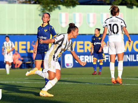 Juventus Women, ancora buona la prima: finisce 2-0 contro l'Hellas Verona