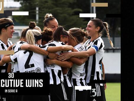Juventus Women, due rapidi squilli al Napoli: trentesima vittoria consecutiva, è record