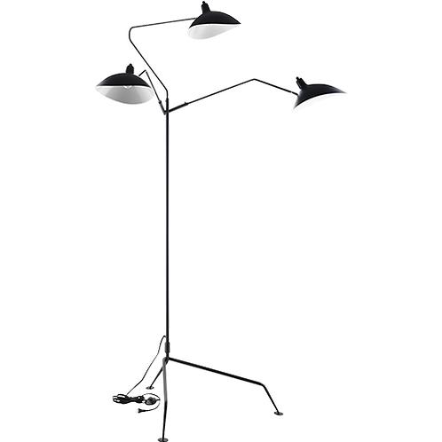 REPLICA SERGE MOUILLE FLOOR LIGHT | 3 ARM