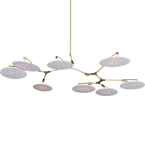 REPLICA BRANCHING DISC CHANDELIER | 9 LIGHTS