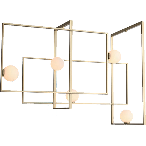 REPLICA MONDRIAN GLASS CHANDELIER | 5 LIGHTS