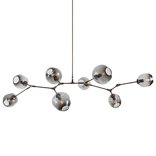 REPLICA BRANCHING BUBBLE CHANDELIER | 8 GLOBE HORIZONTAL
