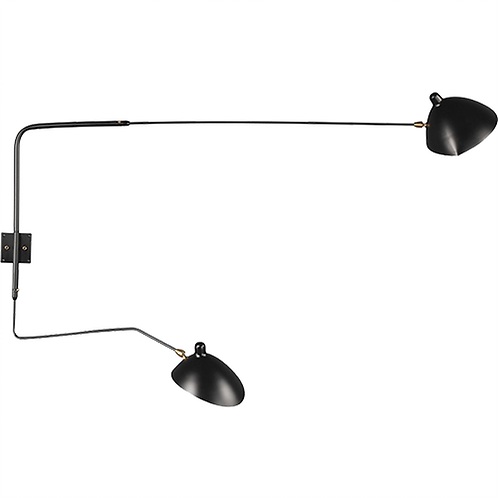 REPLICA SERGE MOUILLE TWO-ARM WALL LIGHT