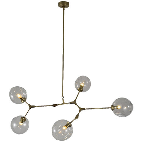 REPLICA BRANCHING BUBBLE CHANDELIER | 5 GLOBE HORIZONTAL