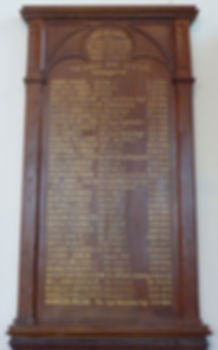 Wooden Roll of Honour plaque