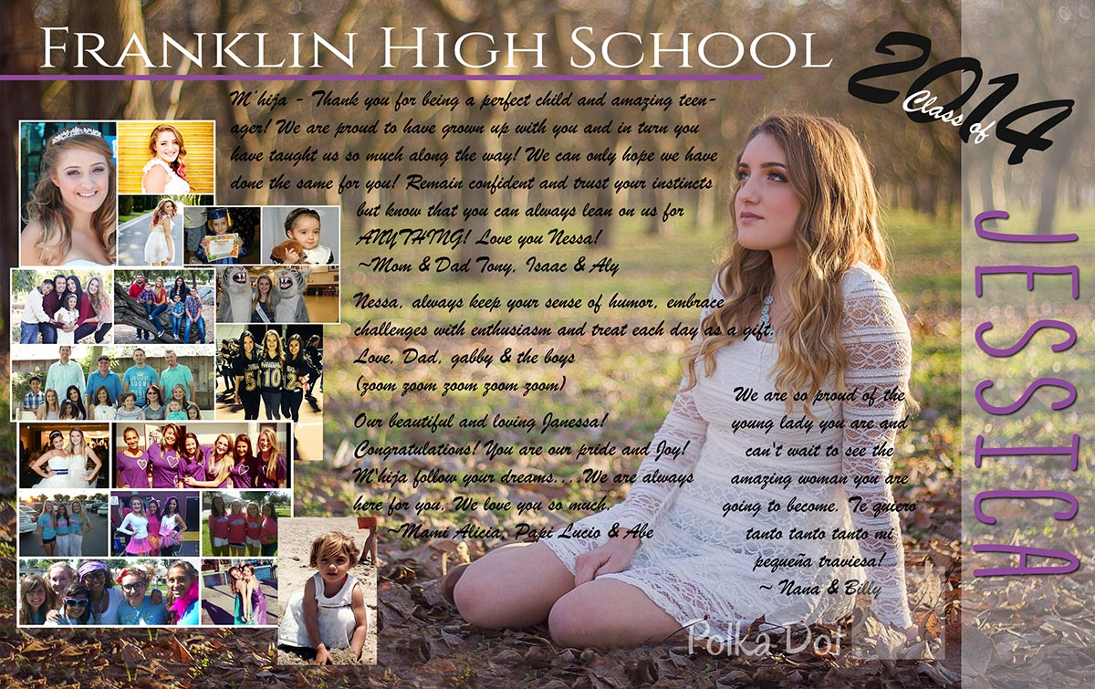 High school yearbook ad