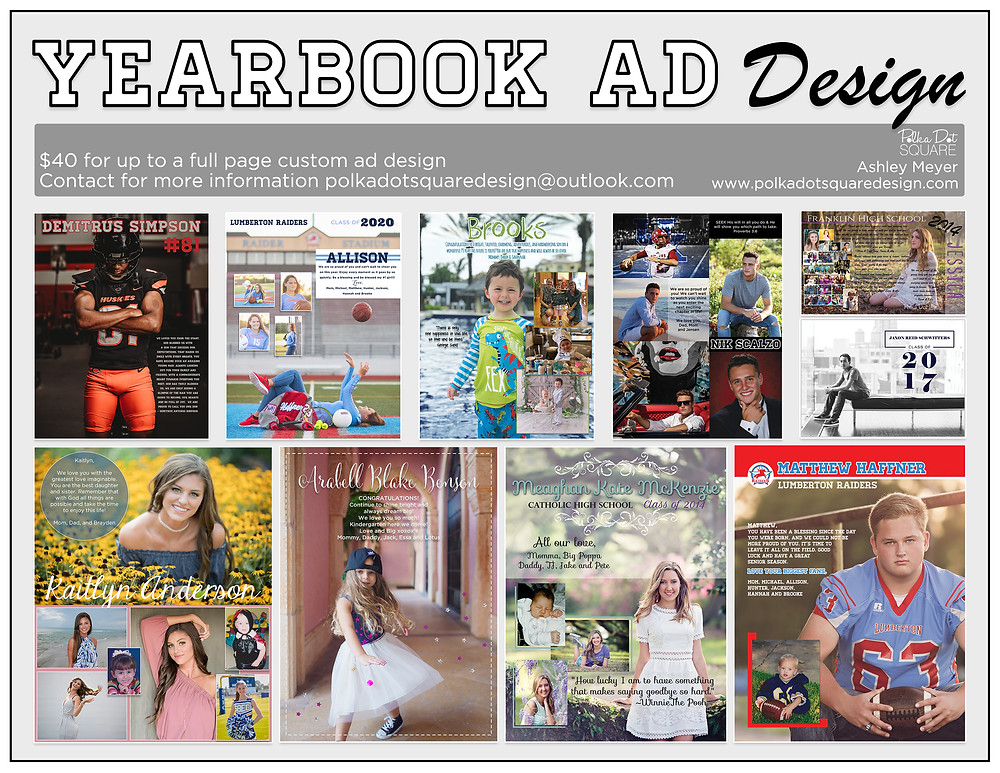 yearbook ad design