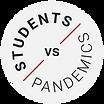 12_Students_vs_Pandemics_logo_sticker_circular background_black on white_red slash.png