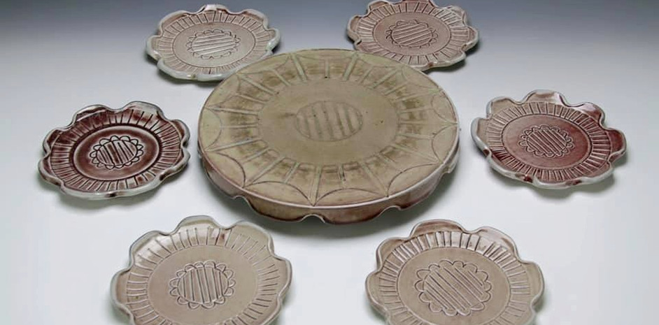Cake Stand with Dessert Plates