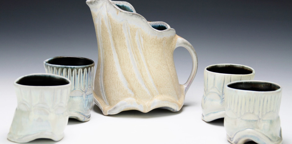 Pitcher and Cups