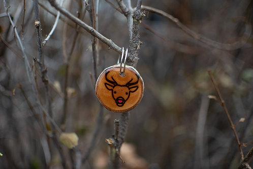 Reindeer Wood Tag