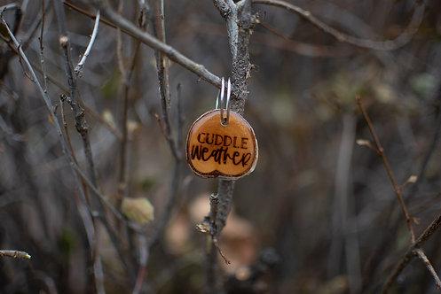 Cuddle Weather Wood Tag