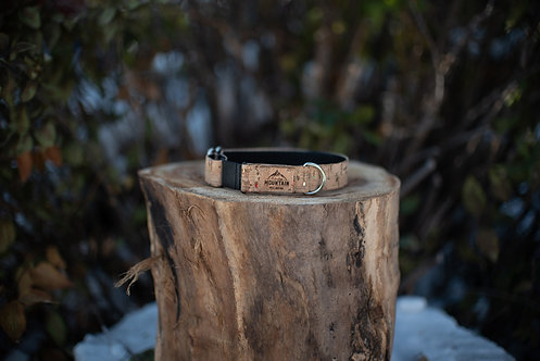 Natural w/ rainbow fleck Cork Cat Collar