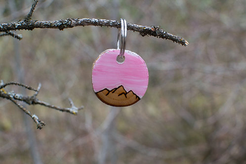 Mountain Range w/ pastel pink sky tag