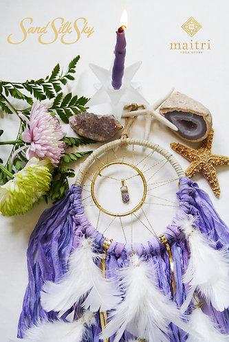 SOLD- Small Purple Amethyst Dreamcatcher