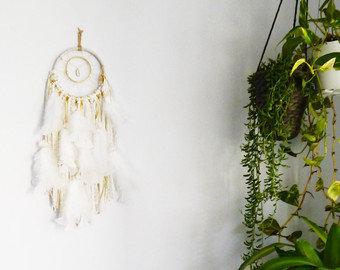 SOLD - Small White Pearl Dreamcatcher