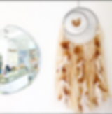 Handmade dream catcher wall art decor crystals agate retail locations shop