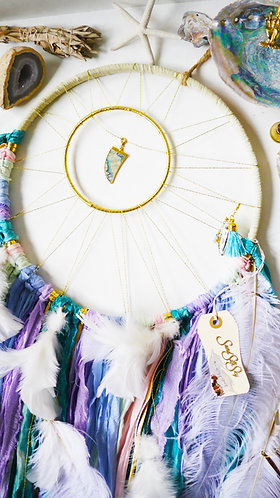 SOLD - Abalone Dreamcatcher