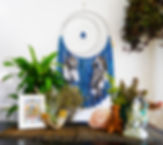 custom handmade dream cather wall art decor boho moon sun crystals agate