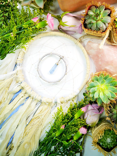 Blue Aquamarine Dream Catcher ~ SandSilkSky ~ Summer Desert Decor