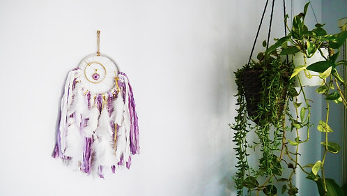 SOLD - Small Purple Solar Quartz Dreamcatcher