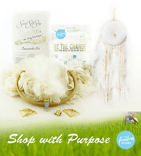 Shop with Purpose DIY Dream Catcher Kits supprt The Freedom Story non-profit children