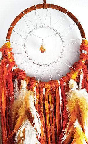 Autumn Leaves Citrine Dreamcatcher ~ Home Decor ~ Hostess Gift