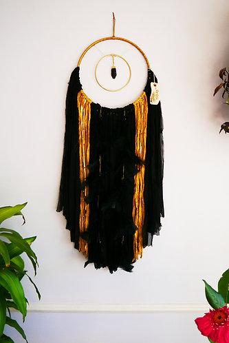SOLD - Steelers Black Kyanite Dreamcatcher