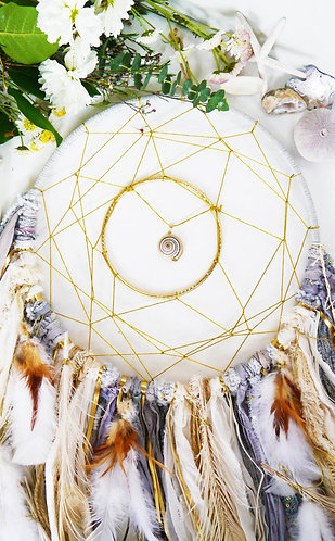 SOLD - Seashell Dreamcatcher