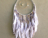 SOLD - White Coral + Grey Dreamcatcher