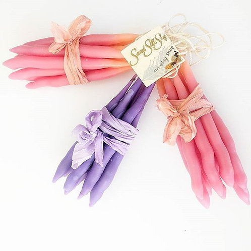 Set of 9 Scented, Hand-dipped Prayer Candles