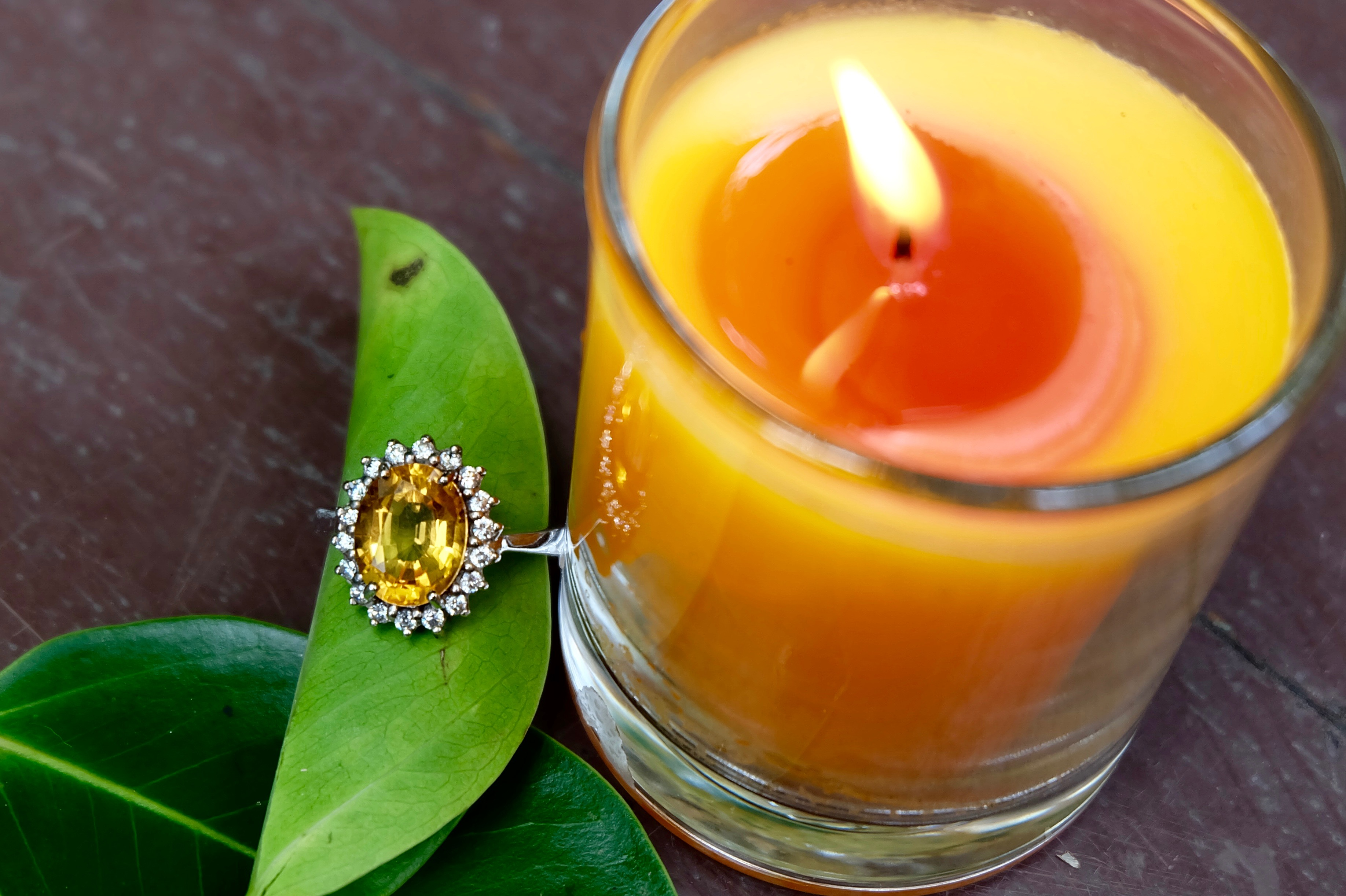 Citrine with sterling silver 92.5%