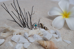 Turquoise with sterling silver 92.5%