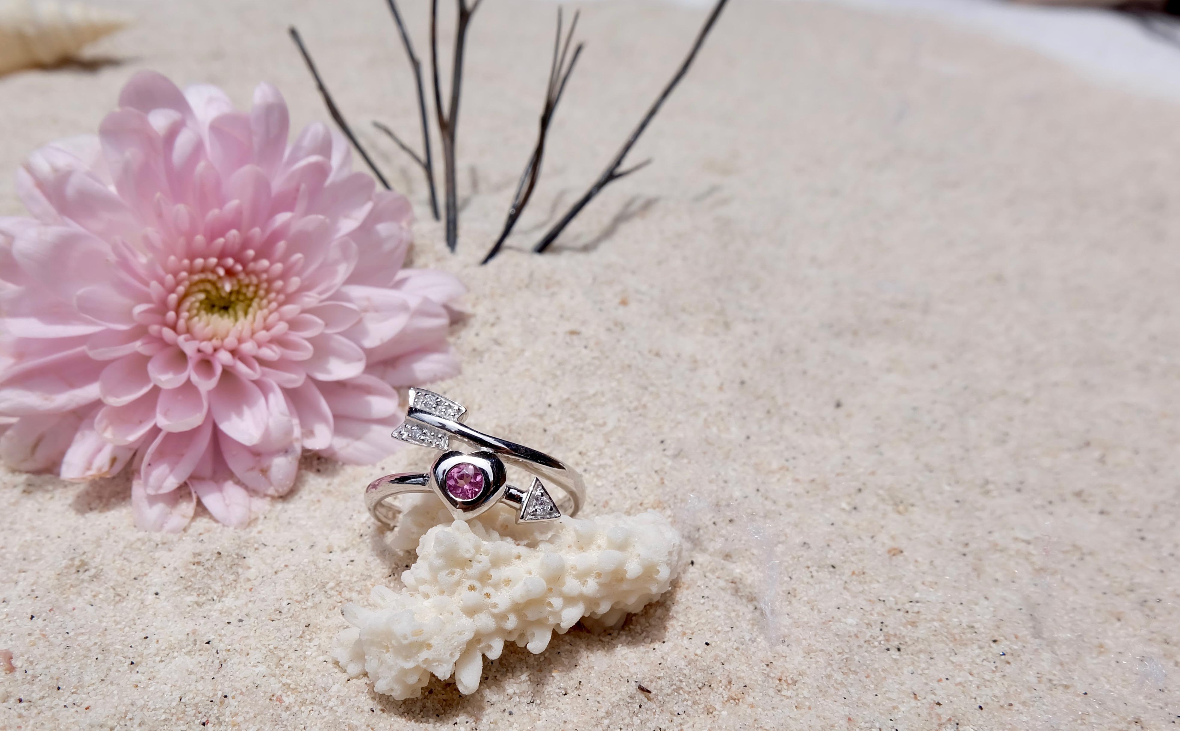 Rhodolite ring,sterling silver 92.5%