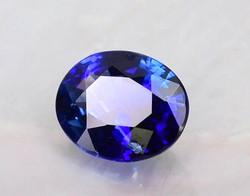Grade AA+ Vivid Blue Sapphire