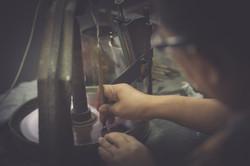 Gems polishing
